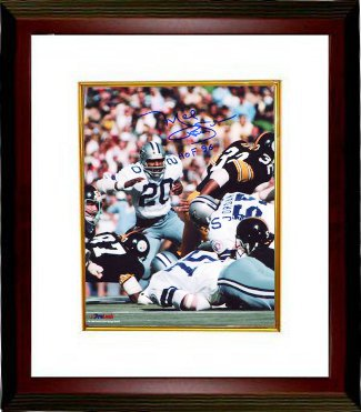 Mel Renfro signed Dallas Cowboys 8x10 Photo HOF 96 Custom Framed PSM-Powers Sports Memorabilia