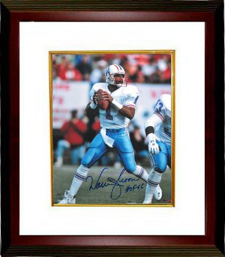 Warren Moon signed Houston Oilers 8x10 Photo HOF 06 Custom Framed PSM-Powers Sports Memorabilia