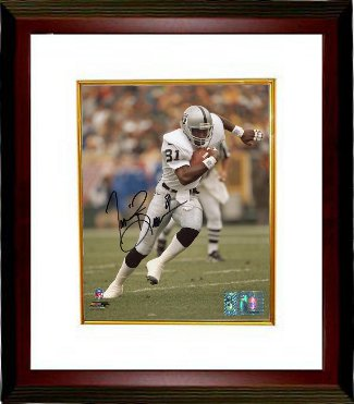 Tim Brown signed Oakland Raiders 8x10 Photo Custom Framing- Tri-Star Hologram PSM-Powers Sports Memorabilia