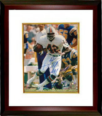 Paul Warfield signed Miami Dolphins 8x10 Photo Custom Framed HOF 83- Steiner Hologram PSM-Powers Sports Memorabilia