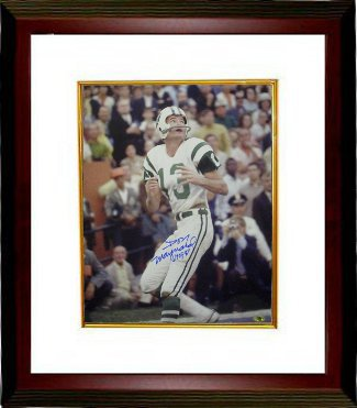 Don Maynard signed New York Jets 16X20 Photo HOF 87 Custom Framing PSM-Powers Sports Memorabilia