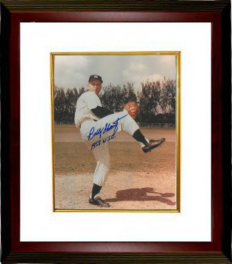 Bobby Shantz signed New York Yankees 8x10 Photo Custom Framed 1958 WSC (World Series Champs) PSM-Powers Sports Memorabilia