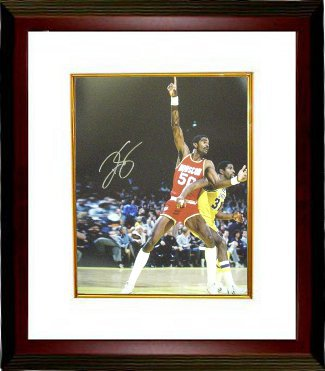 Ralph Sampson signed Houston Rockets 16x20 Photo Custom Frami ng - Leaf Authentics Hologram PSM-Powers Sports Memorabilia