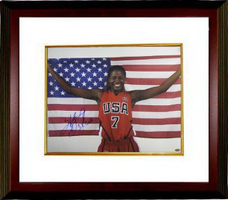 Sheryl Swoopes signed 16x20 Photo Custom Framed Team USA Olympics w/ US Flag 3X Gold (WNBA Basketball) PSM-Powers Sports Memorabilia