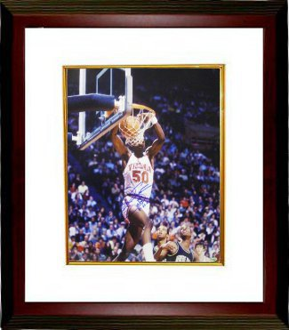 Ralph Sampson signed Virginia Cavaliers 16x20 Photo Custom Framing - Leaf Authentics w/ CPY 81,82,83 (College Player of the Year PSM-Powers Sports Memorabilia