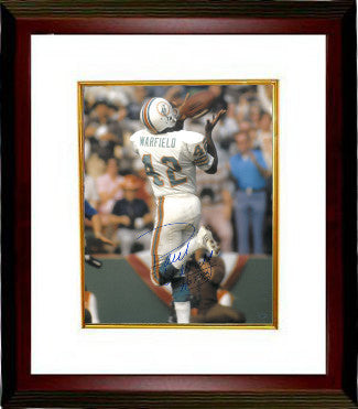 Paul Warfield signed Miami Dolphins 16X20 Photo Custom Framed HOF 83 (over the shoulder catch) PSM-Powers Sports Memorabilia