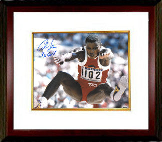 Carl Lewis signed Team USA 16x20 Photo Custom Framed 1988 Seoul Olympics 9 X Gold PSM-Powers Sports Memorabilia