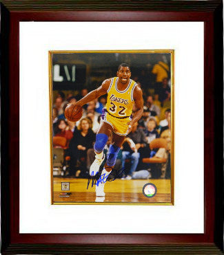 Magic Johnson signed Los Angeles Lakers 8x10 Photo Custom Framing - Schwartz Hologram PSM-Powers Sports Memorabilia