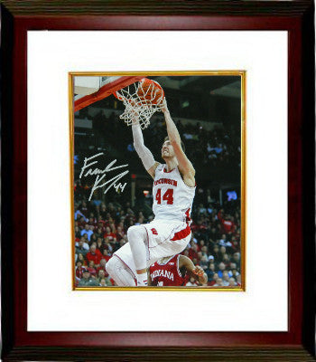 Frank Kaminsky signed Wisconsin Badgers 8x10 Photo Custom Framing- Schwartz Hologram (Slam Dunk) PSM-Powers Sports Memorabilia