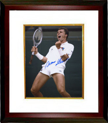 Ivan Lendl signed Tennis 8x10 photo Custom Framed (Wimbledon Victory) PSM
