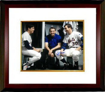 Jerry Koosman signed New York Mets Color 16x20 Photo Custom Framed (in locker with Tom Seaver) PSM-Powers Sports Memorabilia