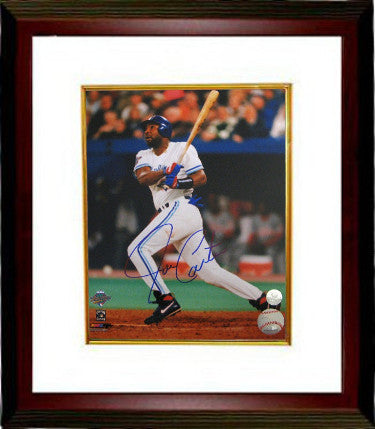 Joe Carter signed Toronto Blue Jays 16x20 Photo Custom Framing- MLB Hologram (1993 World Series Swinging) PSM-Powers Sports Memorabilia
