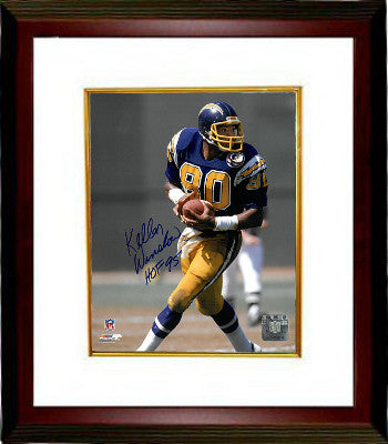 Kellen Winslow signed San Diego Chargers 8x10 Photo Custom Framed HOF 95 (blue jersey) PSM-Powers Sports Memorabilia