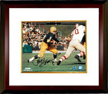 Paul Hornung signed Green Bay Packers 8x10 Photo Custom Framing (horizontal run) PSM-Powers Sports Memorabilia