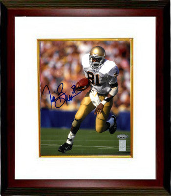 Tim Brown signed Notre Dame Fighting Irish 8X10 Photo Custom Framed (blue sig)- Tri-Star/Brown Holograms PSM-Powers Sports Memorabilia