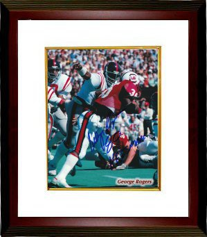 George Rogers signed South Carolina Gamecocks 8x10 Photo Heisman 80 Custom Framed PSM-Powers Sports Memorabilia