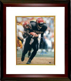 Marshall Faulk signed San Diego State Aztecs 8x10 Photo Custom Framing - GTSM Hologram PSM-Powers Sports Memorabilia