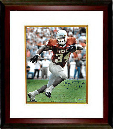 Ricky Williams signed Texas Longhorns 16x20 Photo Custom Framing w/ HT 98 - Tri-Star Hologram (Heisman) PSM-Powers Sports Memorabilia