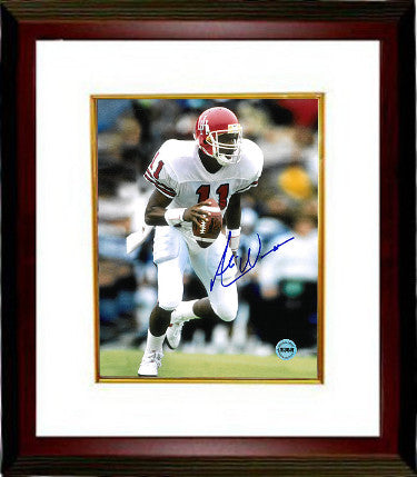 Andre Ware signed Houston Cougars 8x10 Photo Custom Framed (white jersey-Heisman) PSM-Powers Sports Memorabilia