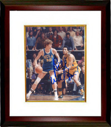 Bill Walton signed UCLA Bruins 8X10 Photo Custom Framing (blue jersey dribble- vertical) PSM-Powers Sports Memorabilia