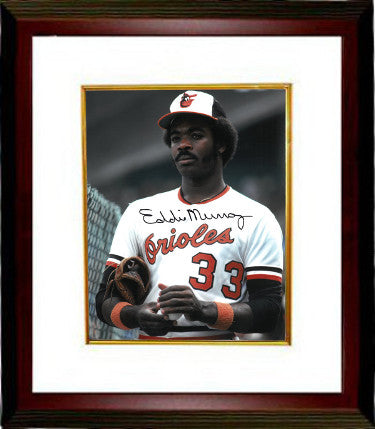 Eddie Murray signed Baltimore Orioles 11X14 Photo Custom Framed (white jersey) PSM-Powers Sports Memorabilia