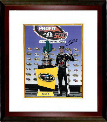 Kevin Harvick signed NASCAR 8x10 Photo Custom Framing - JSA Hologram (Trophy at Phoenix International Raceway) PSM-Powers Sports Memorabilia