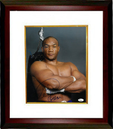 George Foreman signed Boxing 11X14 Photo Custom Framed- JSA Hologram #L45883 PSM-Powers Sports Memorabilia