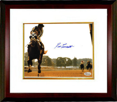 Ron Turcotte signed Secretariat 1973 Belmont Stakes Horse Racing Color 16X20 Photo Custom Framed (Looking Back)- JSA Hologram PSM-Powers Sports Memorabilia