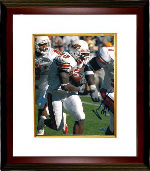 Vernand Morency signed Oklahoma State Cowboys 8x10 Photo Custom Framed- Morency Hologram PSM-Powers Sports Memorabilia