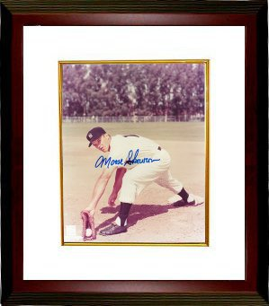"Bill ""Moose"" Skowron signed New York Yankees 8x10 Photo Custom Framed (deceased) PSM-Powers Sports Memorabilia"