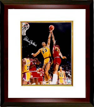 Kareem Abdul-Jabbar signed Los Angeles Lakers 16x20 Photo Custom Framed- Online Authentics Hologram PSM-Powers Sports Memorabilia