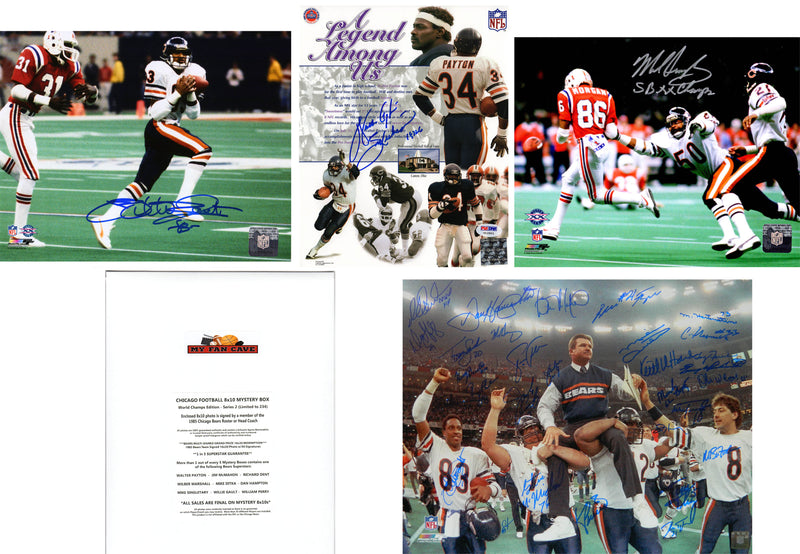 Chicago Bears Signed Mystery Box 8x10 Photo ?Çô World Champions Edition - Series 2 - (Limited to 234) *Walter Payton & 1985 Bears Team Photo Redemptions* PSM-Powers Sports Memorabilia