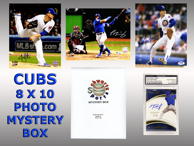 Chicago Cubs Signed Mystery Box 8x10 Photo - 2016 World Champions Edition Series 6 (Limited to 108) PSM-Powers Sports Memorabilia