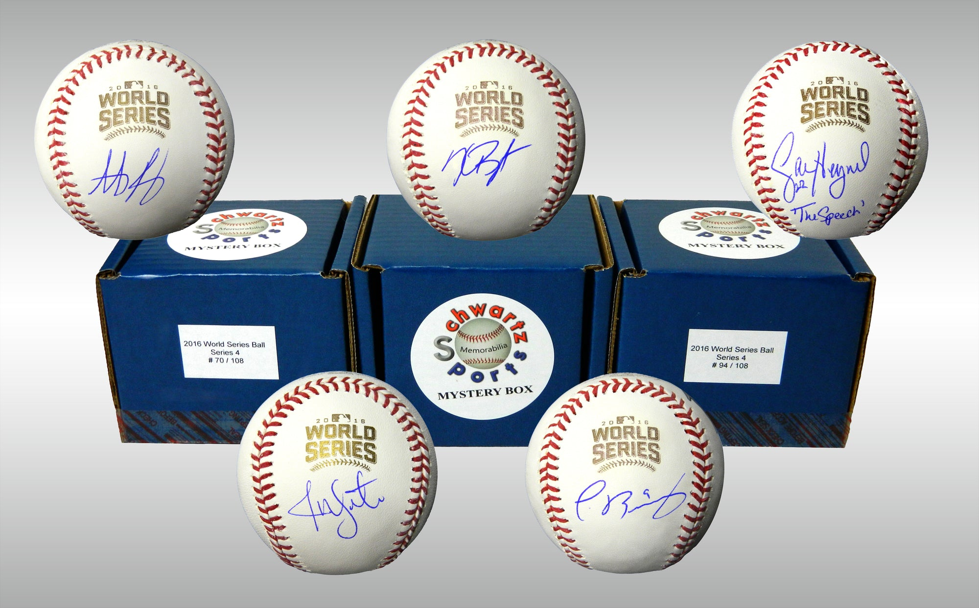 Chicago Cubs Signed Mystery Box 2016 World Series Baseball - 2016 World Champions Edition Series 4 (Limited to 108) PSM-Powers Sports Memorabilia