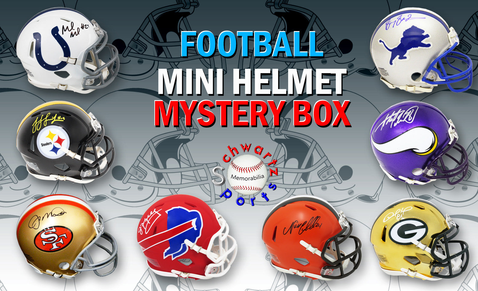 Football Superstar Signed Mini Helmet Mystery Box Series 16 (Limited to 50) PSM-Powers Sports Memorabilia