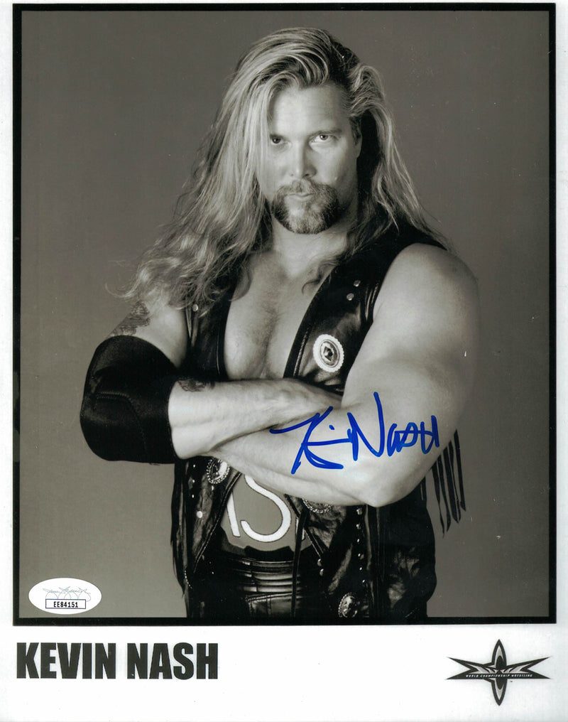 Kevin Nash Autographed/Signed WCW NWO 8x10 Photo JSA PSM-Powers Sports Memorabilia