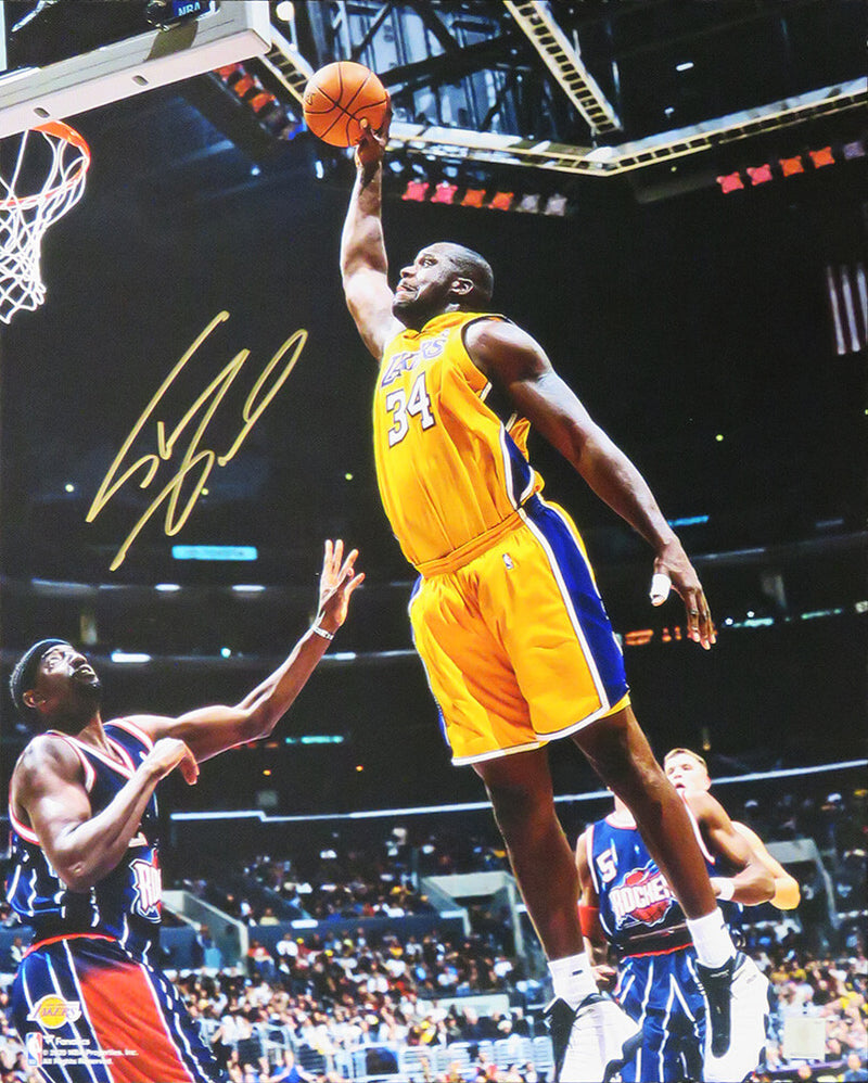 Shaquille O'Neal Signed Los Angeles Lakers Action 16x20 Photo PSM-Powers Sports Memorabilia