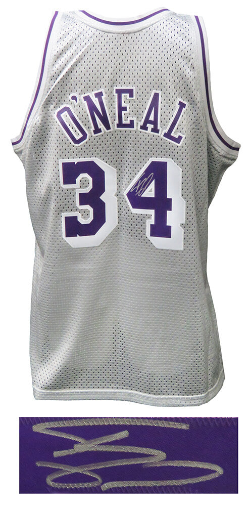 Shaquille O'Neal Signed Los Angeles Lakers Mitchell & Ness Platinum NBA Swingman Basketball Jersey PSM-Powers Sports Memorabilia
