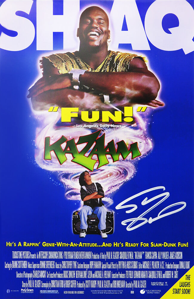 Shaquille O'Neal Signed Kazaam 11x17 Movie Poster PSM-Powers Sports Memorabilia