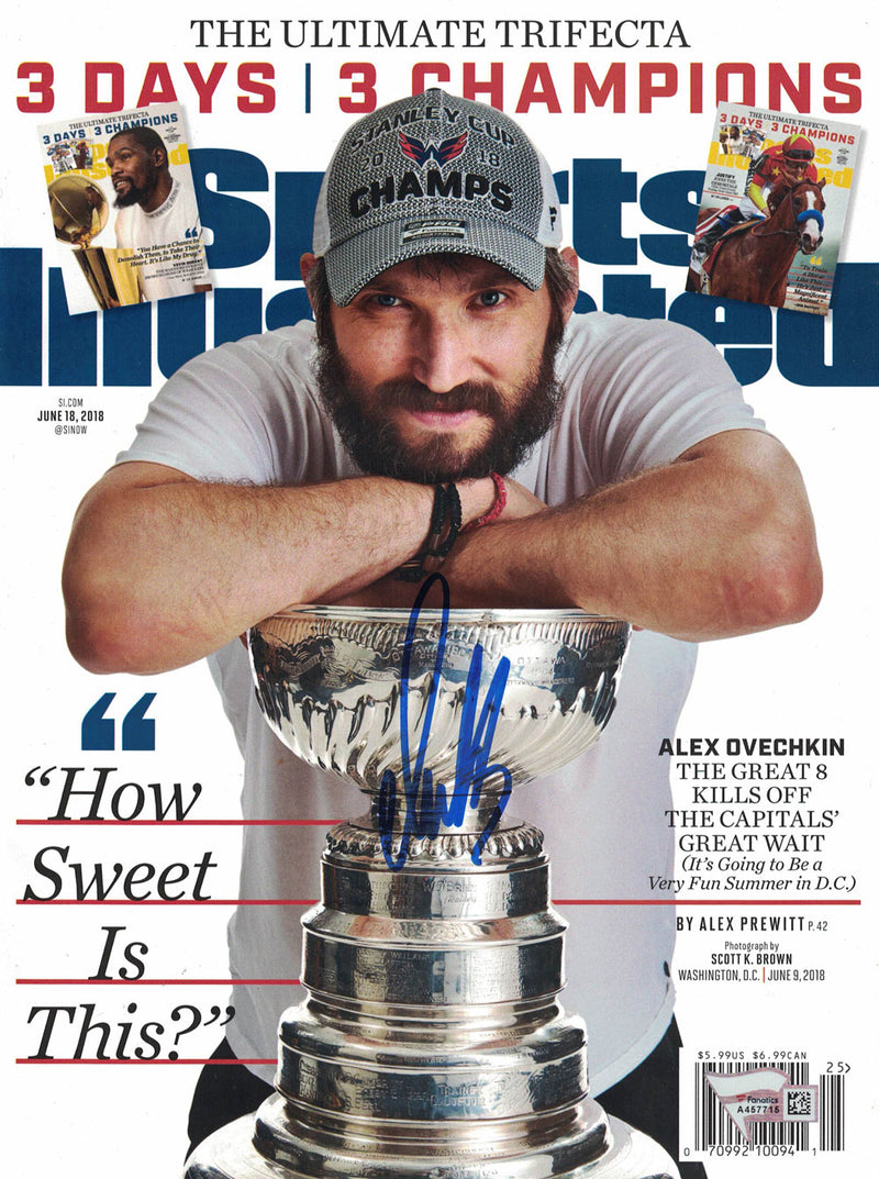 Alex Ovechkin Signed Washington Capitals Sports Illustrated Magazine BAS PSM-Powers Sports Memorabilia