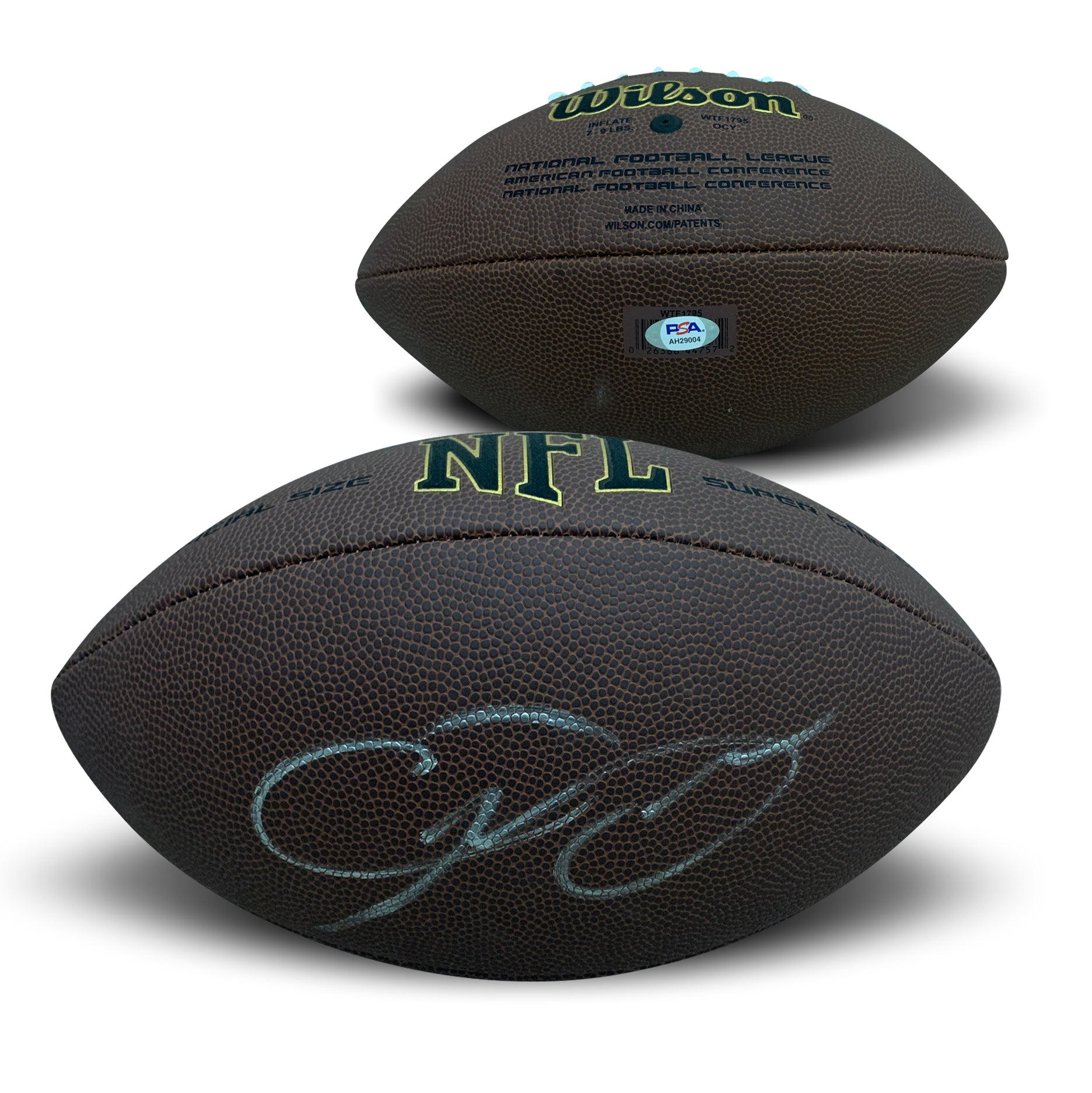 Odell Beckham Jr Cleveland Browns Autographed NFL Signed Football PSA DNA COA-Powers Sports Memorabilia