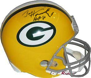 Paul Hornung signed Green Bay Packers Riddell TB FS Rep Helmet HOF 86- PSA Hologram PSM-Powers Sports Memorabilia