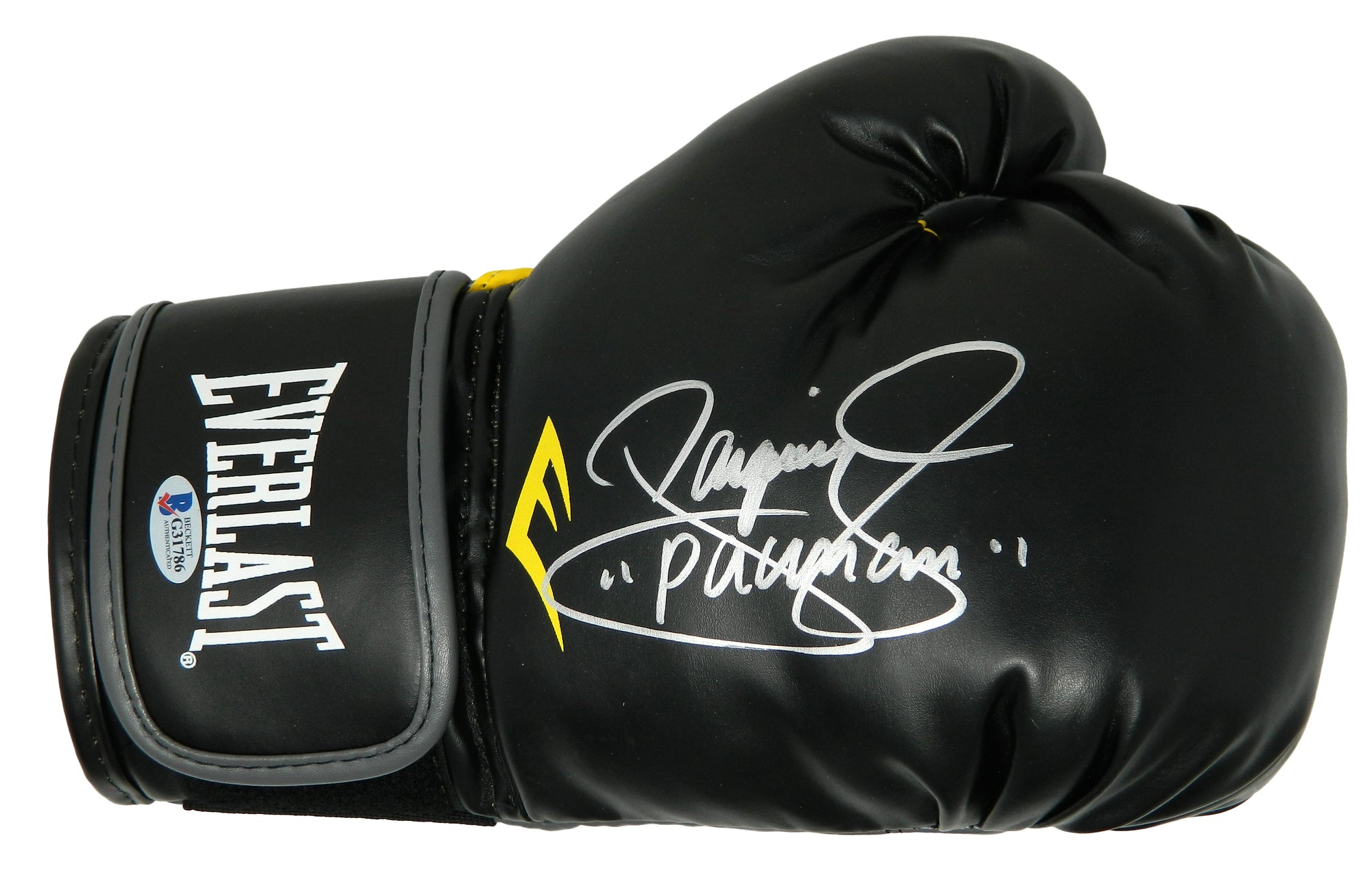 Manny 'Pacman' Pacquiao Signed Everlast Black Boxing Glove (Beckett) PSM-Powers Sports Memorabilia