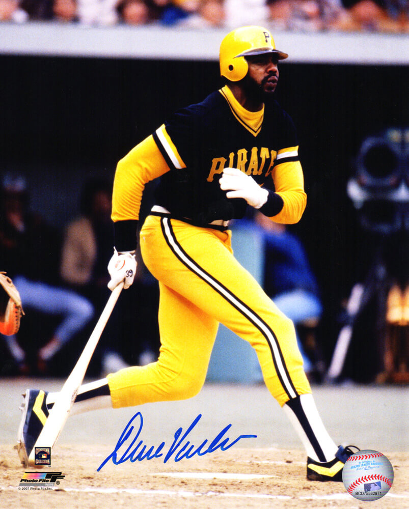 Dave Parker Signed Pittsburgh Pirates Action 8x10 Photo PSM-Powers Sports Memorabilia