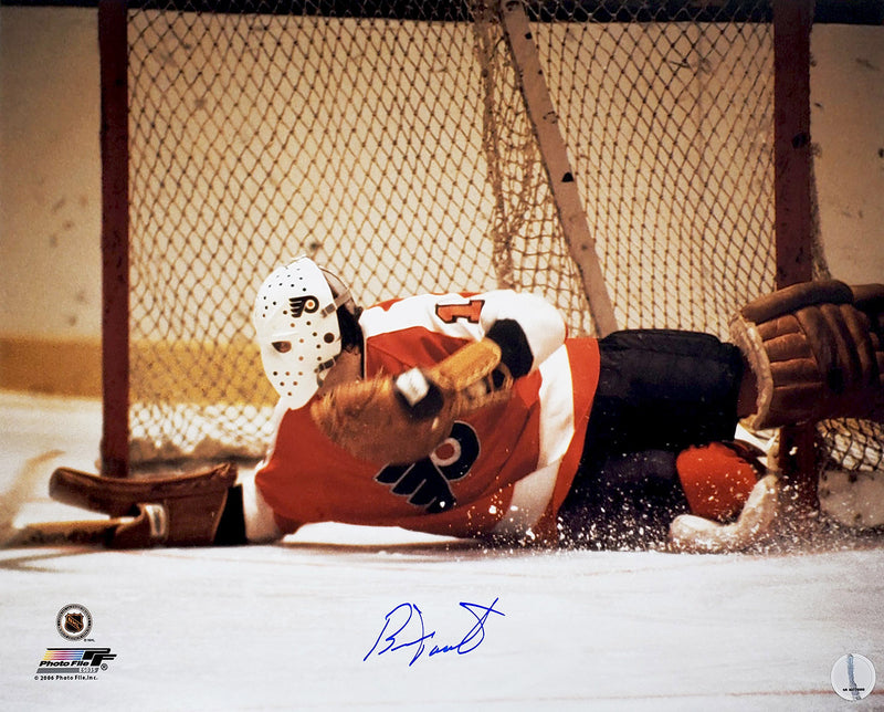 Bernie Parent Signed Philadelphia Flyers Goalie Diving Save Action 16x20 Photo PSM-Powers Sports Memorabilia