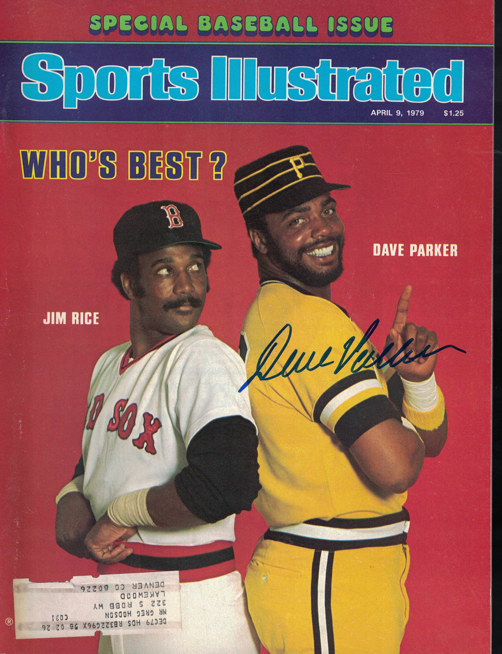 Dave Parker Signed Pittsburgh Pirates Sports Illustrated Mag 4/9/79 BAS PSM-Powers Sports Memorabilia
