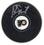 Bernie Parent Signed Philadelphia Flyers NHL Logo Hockey Puck PSM-Powers Sports Memorabilia