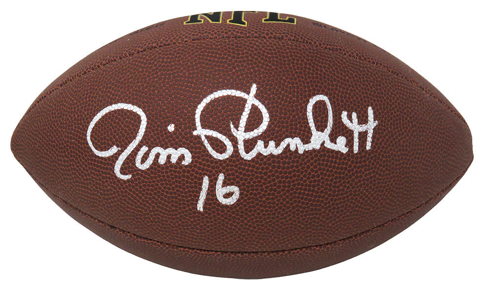 Jim Plunkett Signed Wilson Super Grip Full Size NFL Football PSM-Powers Sports Memorabilia