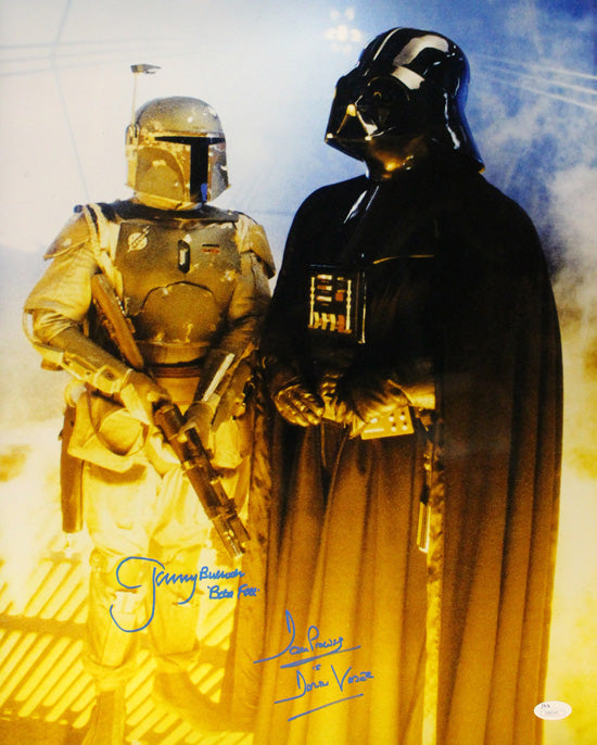 David Prowse & Jeremy Bulloch Autographed Star Wars 16x20 Darth Vader Boba Fett JSA PSM-Powers Sports Memorabilia
