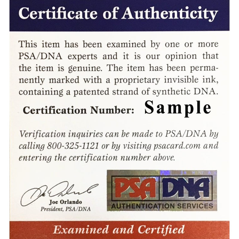 Odell Beckham Jr Autographed Cleveland Browns Signed White Panel Logo Football PSA DNA COA-Powers Sports Memorabilia